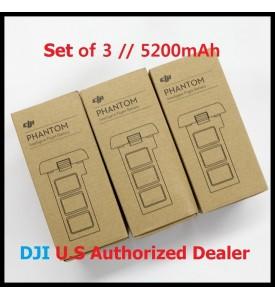 3 X DJI Smart Battery for Phantom 2 Series 5200 mAh 11.1V Set of 3 Battery