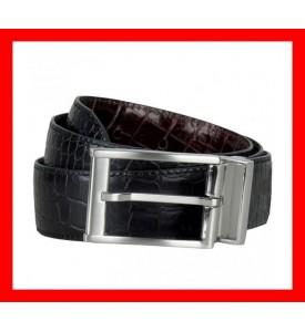 New Nike Golf Belt Crocodile Embossed Reversible Black Brown 32 34 36 38 40 $65