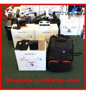 DJI Phantom 3 Advanced + Extra Battery + Remote Strap + 4 Extra Props + Bag