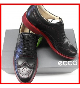 ECCO Mens Tour Hybrid Wingtip Golf Shoes Black Brick  EU 41 42 43 45 $200