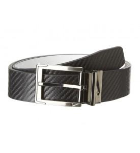 New NIKE GOLF BELT Carbon Fiber Textured Reversible Black / White 32 34 36 38 40
