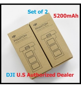 2 X DJI Smart Battery for Phantom 2 Series 5200 mAh 11.1V Set of 2 Battery