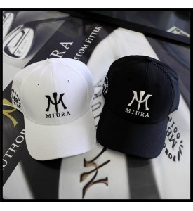 2015 Miura Golf Cap MB 001 Forged $ Miura Logo Hat White and Black XXL Set of 2