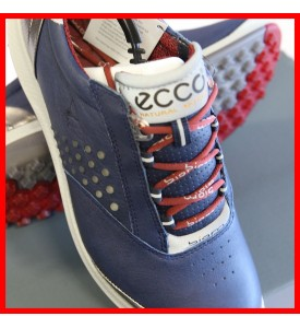 New ECCO Women's BIOM Hybrid 2 Golf Shoes NAVY / BRICK EU 36 37 38 $200