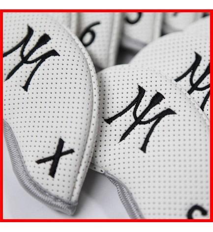 2015 Miura Golf Iron Headcover Full Set Authentic11 Pc White Black 3I~P/A/S/X