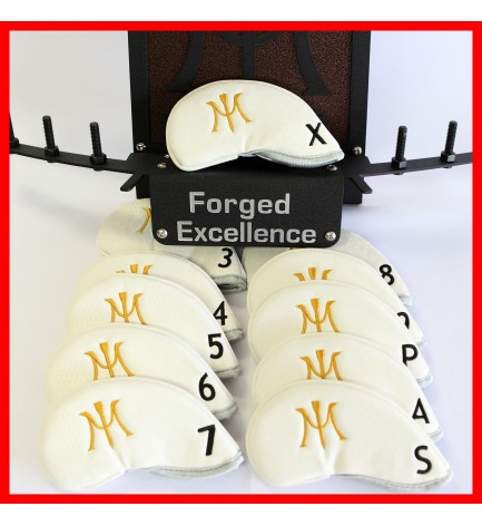 Miura Golf Magnetic Iron Headcover Full Set Authentic 11 Pc White 3I~P/A/S/X