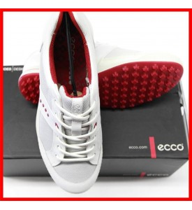 ECCO Mens Street Textile Golf Shoes White Brick  EU 40 US 6 - 6.5 $180