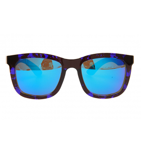 A_holic Mirror Lens Sunglasses - AS21 5C Blue Leopart 17 (Blue Mirror)