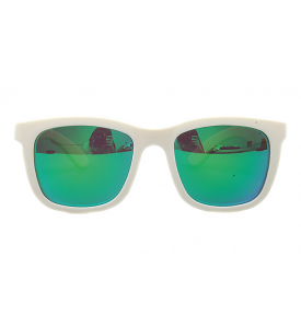 A_holic Mirror Lens Sunglasses - AS21 5C Ivory 10 (Green Mirror)