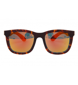 A_holic Mirror Lens Sunglasses - AS21 5C Leopart 05 (Orange Mirror)